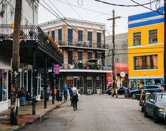 Decatur Street, in Marigny, New Orleans, Louisiana. Photo Print, Metal, Canvas, Framed.