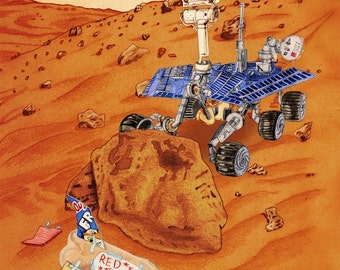 """Mars Rover Print, """"Science Fair Project"""""""