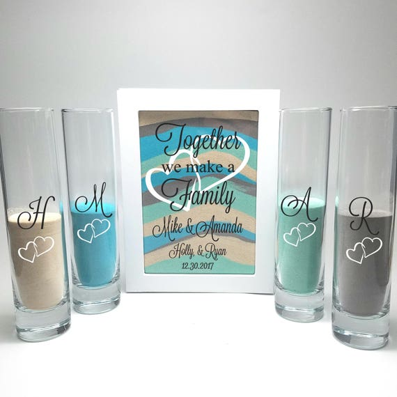 Blended Family Wedding Sand Ceremony Shadow Box Set Unity Etsy