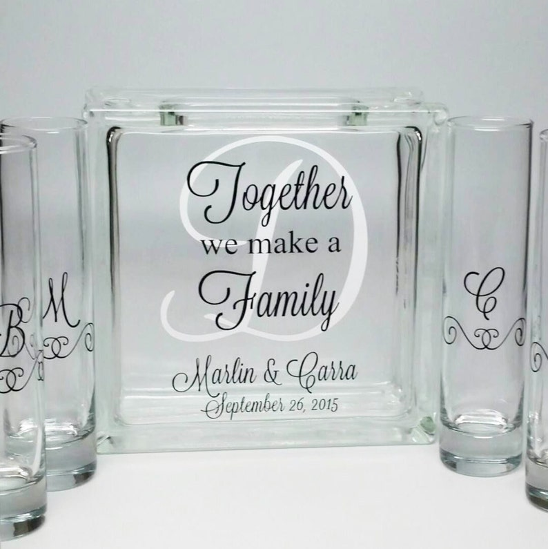 Sand Ceremony Wedding.Blended Family Sand Ceremony Set Unity Candle Alternative Together We Make A Family Beach Wedding Decor Blended Family Wedding Theme