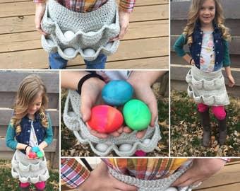 Egg-cellent Child Size Apron ***CROCHET PATTERN***