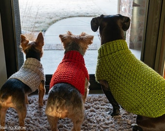 Dog Sweater ***CROCHET PATTERN***