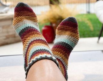 Herringbone Socks ***CROCHET PATTERN***