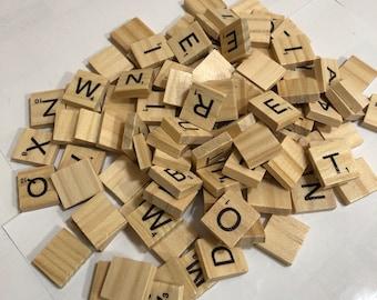 Wood Scrabble Tile Set (100 tiles)