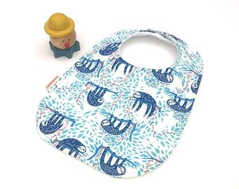 Sloth Baby Bib baby boy gift baby bibs handmade sloth bib sloths baby bandana bib baby girl bib baby boy