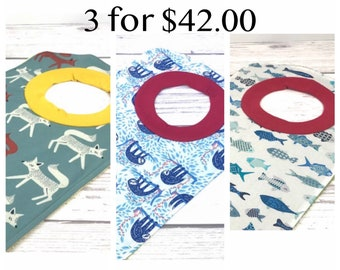 Toddler Pullover Bib - Large Baby Bibs For Boys and Girls - Neutral Baby Bib Set - Gifts For New Mom - Baby Shower Ideas - Baby Gift Set