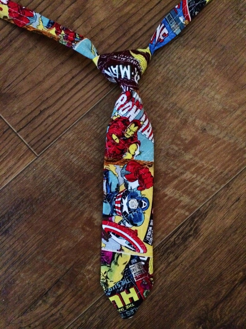 8f59f47b408b Avengers boys tie/toddler tie/ Adjustable/Great for pictures | Etsy