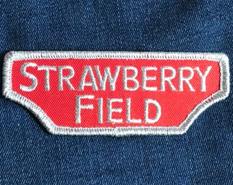 Strawberry Field Embroidered Patch