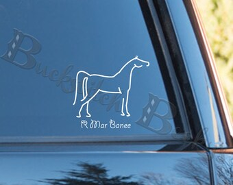 Personalized Arabian Horse Decal