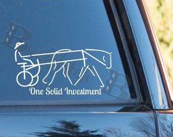 Personalized Driving Horse Decal