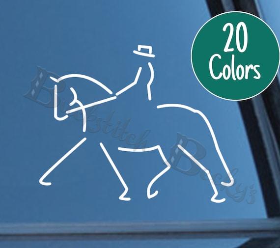 CUSTOM NAME STICKER SET HORSE RIDING HELMET STICKER LABELING DRESSAGE STYLE 4