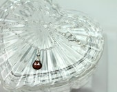 Genuine Mozambique Garnet Necklace / Dainty Garnet Necklace / January Birthstone Necklace / Minimalist Gemstone Pendant