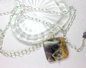 Amethyst Pendant Necklace...