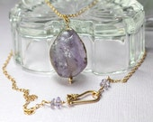 Raw Amethyst Pendant with...