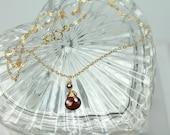 Garnet Necklace, Red Garn...