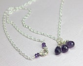 Amethyst Necklace in Ster...