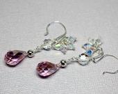 Pink Crystal Earrings, Pi...