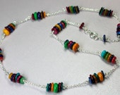 Rainbow Pearl Necklace, M...