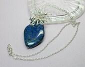 Blue Lapis Necklace Penda...