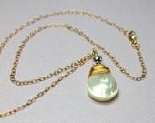 Pearl Teardrop Pendant, M...