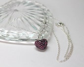 Puffed Heart Pendant, Pur...