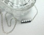 Hematite Choker, Gemstone Choker, Boho Choker, Layering Necklace, Gray Beaded Choker, Simple Black Choker Necklace, Delicate Choker Necklace