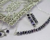 Purple Agate Necklace Set...