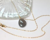 Gray Chalcedony Gold Neck...