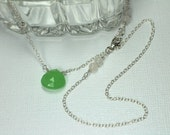 Green Chalcedony Necklace...
