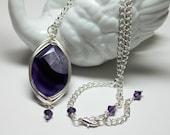 Large Purple Agate Gemsto...