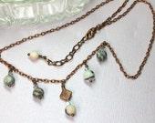 Jasper Bib Necklace, Simple Copper Necklace, Jasper Layering Necklace, Gray Jasper Crystal Choker