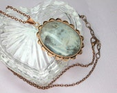 Large Grey Agate Pendant,...