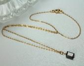 Dark Red Garnet Necklace, Dainty Delicate Gold Choker, January Birthstone Jewelry, 14k Gold Filled, Real Garnet Gemstone Choker