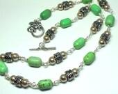 Howlite Gemstone Necklace...