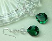 Emerald Green Quartz Earr...