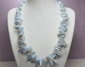 Blue Agate Necklace, Gemstone Statement Necklace, Blue Lace Agate, Blue Gemstones, Agate Gemstone Spears, Boho Style