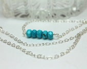 Turquoise Necklace, Silve...
