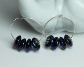 Blue Quartz Earrings, Cry...
