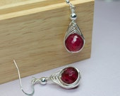 Red Agate Earrings, Large...