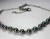 Black Hematite Necklace, ...