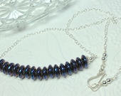 Blue Quartz Necklace, Cob...