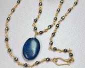 Blue Lapis Necklace, Lapi...