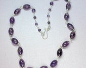 Amethyst Choker Necklace,...