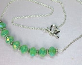Green Crystal Necklace, C...
