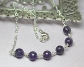 Amethyst Necklace, Purple...