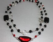 Long Red and Black Onyx N...