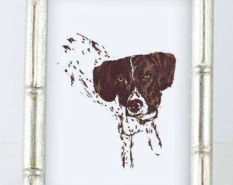 German Shorthaired Pointer Print - GSP Print - Dog Print - I love my GSP - GSP love