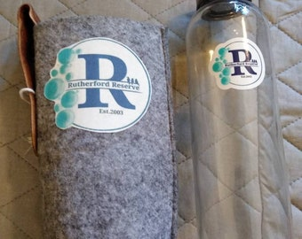 Glass Drinking Bottle with Fabric Carrier