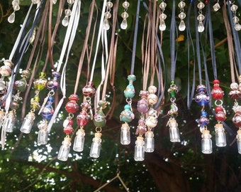 Venetian glass bead, scented, heart necklaces