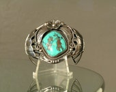 Ed Kee Sterling Silver Turquoise Cuff Bracelet